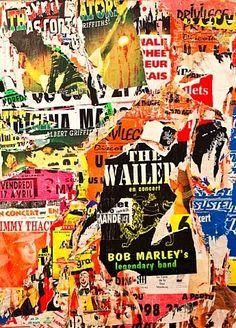 The Wailers & Bob Marley, Agen - Jacques Villeglé - Nouveau Réalisme, 1998