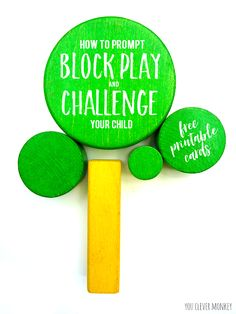 Block Play Challenge Cards - use these FREE printable challenge cards with your wooden blocks to encourage and extend your child& play. Perfect for encouraging young children to find new ways to play with their blocks Block Play, Play Centre, Creative Play, Preschool Activities, Preschool Education, Early Childhood, Prompts, Your Child, Kids Playing