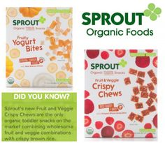 Sprout Organic Foods Snack Giveaway - 15 winners!