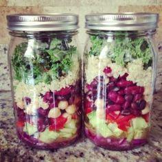 Healthy Lunch Idea For Work: Mason Jar Salad Recipe | LIVLOV