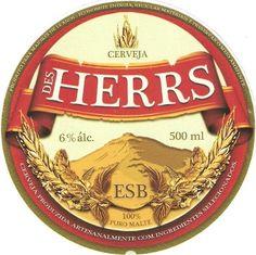 Cerveja Des Herrs, estilo Extra Special Bitter/English Pale Ale, produzida por Cervejaria Caseira, Brasil. 6% ABV de álcool.