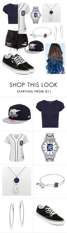 """Detroit Tigers"" by poohbabygurl14 on Polyvore featuring New Era, WearAll, Majestic, Game Time, LogoArt, Alex and Ani, Anne Sisteron and Vans"