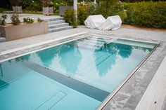 Overflow cover: Overflow trough hidden around entire perimeter (trough is covered by pavers) Pool Accessories, Summer Pool, A Way Of Life, Your Perfect, In Ground Pools, Rooftop, Sunny Days, Your Design, Swimming
