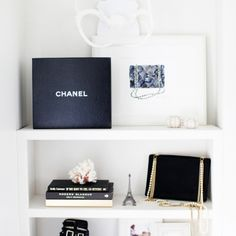beautiful white shelves