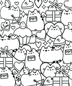 Pusheen Coloring Pages Cartoon Coloring Pages Mandalas Colores