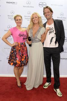 Pin for Later: Die Stars machen Berlin zum Mode-Mekka bei der Fashion Week Ruth Moschner, Jenny Elvers und Steffen van Beeck bei der Schau von Guido Maria Kretschmer