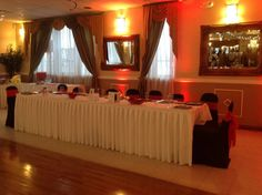 Head Table for Mrs Mable 70th Birthday Party