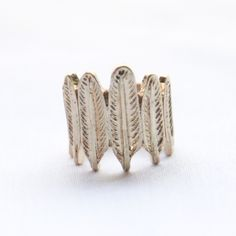 Feather Stack Ring | $16