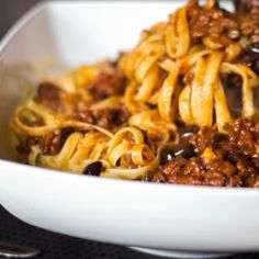 Pasta with Sausage Puttanesca Sauce by CarriesExpKtchn