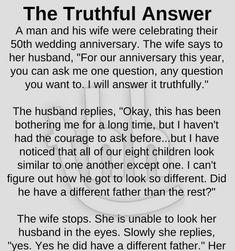 The truthful answer - funny story #husbandwifejokes