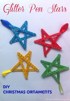 easy christmas crafts for kids craft stick stars, christmas decorations, crafts, seasonal holiday decor