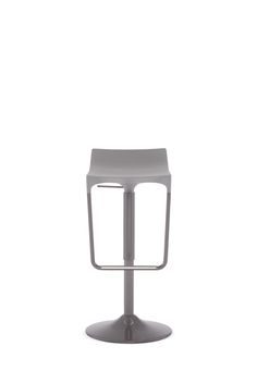 Candid Stool, Soft-Skinned Polyurethane Seat in Grey