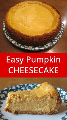 Easy Pumpkin Cheesecake - this is the best and easiest pumpkin cheesecake recipe ever! | MelanieCooks.com
