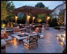 Ideal patio design....needs a spot for hottub.