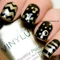 Guest post at Eleven.se - Skittle with golden patterns - http://www.mynailpolishonline.com/2015/12/nail-art-2/guest-post-at-eleven-se-skittle-with-golden-patterns/