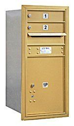 4C Horizontal Mailbox - 9 Door High Unit (34 Inches) - Single Column - 2 MB1 Doors / 1 PL5 - Gold - Rear Loading - USPS Access by Salsbury Industries. $282.96. 4C Horizontal Mailbox - 9 Door High Unit (34 Inches) - Single Column - 2 MB1 Doors / 1 PL5 - Gold - Rear Loading - USPS Access - Salsbury Industries - 820996413475. Save 13%!