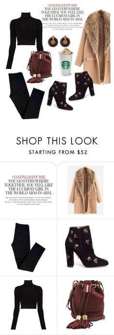 """""""Busy Lady"""" by its-imani-tho ❤ liked on Polyvore featuring Kate Spade, J Brand, Aquazzura, A.L.C., See by Chloé and Alor"""