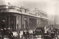Bank Of England, circa 1890: The Bank of England in Threadneedle Street, London.
