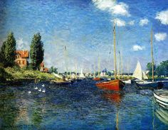 I believe Argenteuile by Claude Monet, painted in 1875