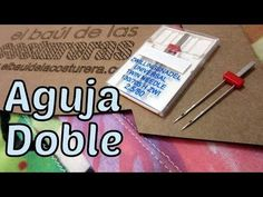 Colocación y Uso de la Aguja Doble | EL BAÚL DE LAS COSTURERAS Sewing Lessons, Sewing Hacks, Sewing Tutorials, Sewing Projects, Sewing Patterns, Serger Stitches, Sewing School, Sewing Needles, Sew On Patches