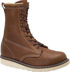 shit kickers    Carolina CA7001 Non-Safety Toe Work Boots - Mens Dark Brown