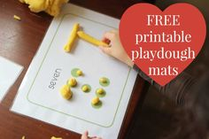 I love free, and I love printable. I don't like vaccuuming 87 bits of playdough off the floor! These 5 free printable playdough mats are pretty cool though.
