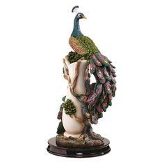 Amazon.com : Design Toscano KY10239 17 in. The Peacocks Garden Sculpture : Statues : Patio, Lawn & Garden