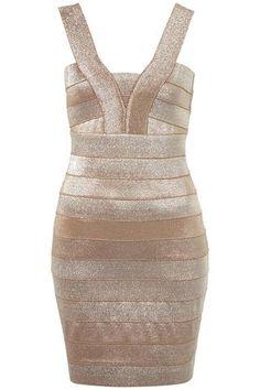 Glitter Bandage Bodycon Dress
