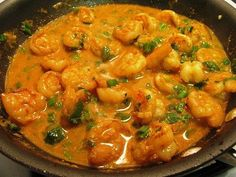 Gina's Thai Coconut Curry Shrimp, 4 points. Add a bit more curry paste and veggies.makes LOTS of sauce. Shrimp Recipes, Fish Recipes, Asian Recipes, Paleo Recipes, Cooking Recipes, Ethnic Recipes, Recipies, Coconut Curry Shrimp, Thai Coconut