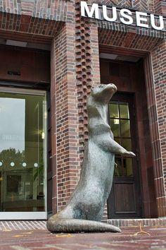 Otter in Bronze wurde in Deutschland, Braunschweig aufgenommen