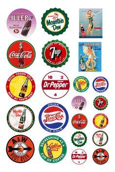 1:25 G scale model vintage soft drink soda pop signs