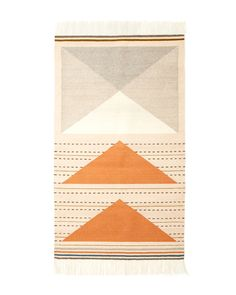 Minna-goods.com | The Wild Geese Rug in Peach