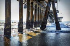 Pier Pillars at Venice Beach, Los Angeles. Limited Edition 1 of 30 Photograph Beach Photography, Color Photography, Photorealism, Venice Beach, Buy Art, Photo Art, Art Deco, Wall Art, Santa Monica