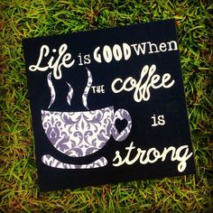 We agree! Who else is drinking strong coffee today? #Coffee #Art #MrCoffee
