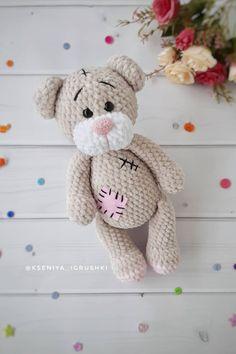 FREE amigurumi plush Teddy Bear pattern #amigurumipattern #amigurumi #crochettoy #crochetpattern #crochetbear #amigurumibear #amigurumitoy #crochetplushpattern #freeamigurumipatterns Teddy Bear Patterns Free, Crochet Bear Patterns, Amigurumi Doll Pattern, Plush Pattern, Free Pattern, Crochet For Boys, Free Crochet, Knitted Teddy Bear, Stuffed Animal Patterns
