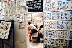 Orlando is tattoo parlors inside flea markets.
