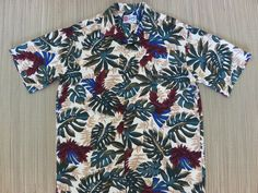 Vintage Hawaiian Shirt HILO HATTIE Tropical Aloha Red Tower Ginger Flower Philodendron Leaves Floral Mens Rayon - M - Oahu Lew's Shirt Shack by OahuLewsShirtShack on Etsy