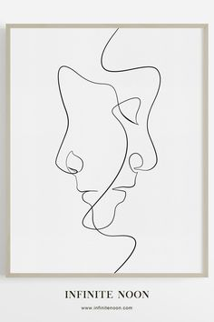 The Clone - Single line face illustration wall art, modern and minimal artwork,. - The Clone – Single line face illustration wall art, modern and minimal artwork, black line drawi - Doodle Drawing, Drawing Sketches, Art Drawings, Pencil Drawings, Abstract Drawings, Minimal Drawings, Modern Drawing, Abstract Faces, Drawing Drawing