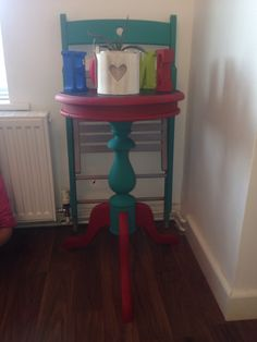 Cute update shabby chic table with chalk board top ❤️