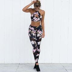 Flowerbomb Print Legging