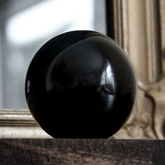 1 x BLACK OBSIDIAN CRYSTAL BALL 50 mm in DIAMETER Wicca Witch Pagan Reiki Goth