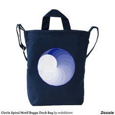 Circle Spiral Motif Baggu Duck Bag Duck Canvas Bag