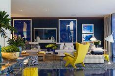 A casa de praia azul
