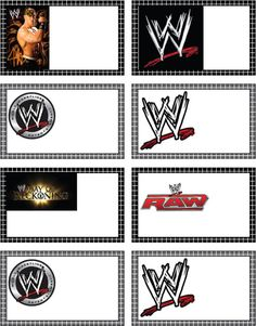 Free Printable WWE Wrestling Tags - could be used for food tents for a birthday. Wrestling Birthday Parties, Wrestling Party, Wwe Birthday, Superman Birthday Party, Ninja Birthday Parties, Birthday Ideas, Happy Birthday, Diy Wwe, Wwe Cake