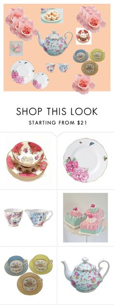 """High Tea!"" by gracesvintagegarden on Polyvore featuring interior, interiors, interior design, home, home decor, interior decorating, Royal Albert and Wedgwood"