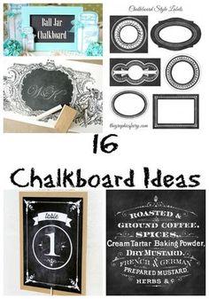 16 Chalkboard Ideas | The Graphics Fairy | Bloglovin