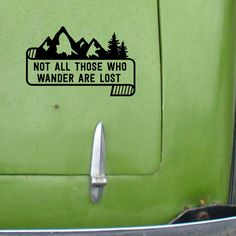 Whether looking for a great gift for a hiker or looking to show off your own supreme outdoorsy prowess (or maybe your love for The Lord of the Rings!), this stylish Wanderlust car decal is a very cool way to do it. Mountains and pines and pretty typography: some of the best things in the world, combined into one magical little decal. Lovely.  This is a simple and beautiful take on the classic JRR Tolkien quote. This is a custom designed and totally unique handmade outdoorsy Wanderlust car…
