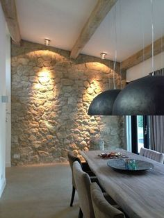 Urban Industrial Decor Tips From The Pros Have you been thinking about making changes to your home? Are you looking at hiring an interior designer to help you? Decor, House Design, Interior, Home, House Interior, Stone Houses, Home Deco, Interior Design, Home And Living