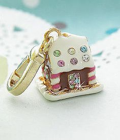NEW Crystal Candy House Charm Pendant