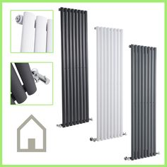Vertical-Designer-Radiator-Oval-Column-Tall-Upright-Central-Heating-Radiators-UK